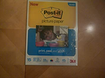 Amazoncom 3m Post It Semi Gloss Super Sticky Picture Paper 85x11