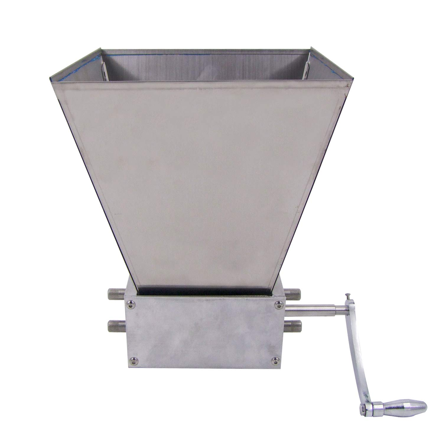 HFS (R) Grain Mill with 11 lb. Hopper and 3 Rollers?Stainless Steel Three Roller Malt Mill by HFS