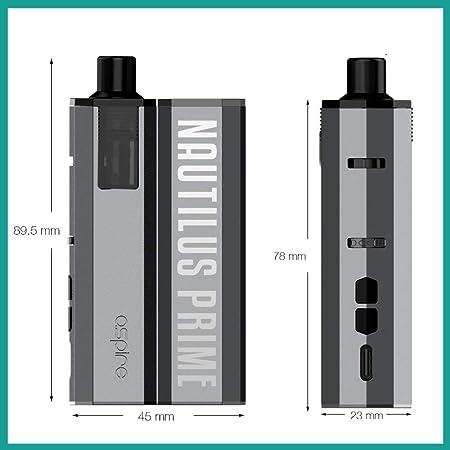 Amazon | 電子タバコ 本体 Aspire Nautilus Prime アスパイア ノーチラス プライム (④ Peacock Blue) | Hilax | 電子たばこセット・スターターキット