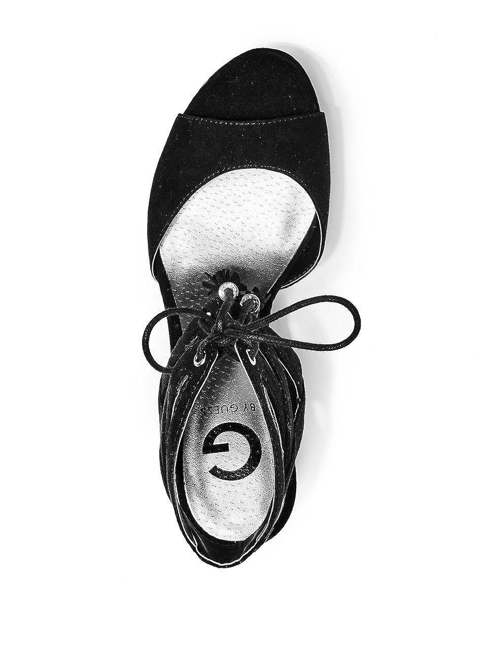 Amazon.com | G by GUESS Womens Estes Black Sandal 10 M | Platforms & Wedges