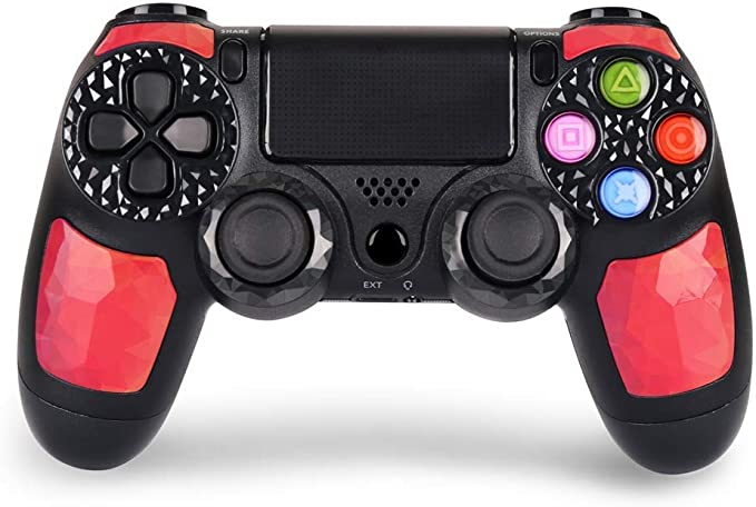 TUTUO Wireless Controller f/ür PS4 Bluetooth Gamepad Joypad Joystick Kabelloser Remote Controller Dual-Vibration Shock Touch-Panel f/ür PS4//PS4 Slim// PS4 Pro//PS3