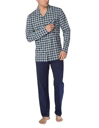 99e3cf96f2cb82 Calida Herren Zweiteiliger Schlafanzug Bill Herren Pyjama: Amazon.de:  Bekleidung