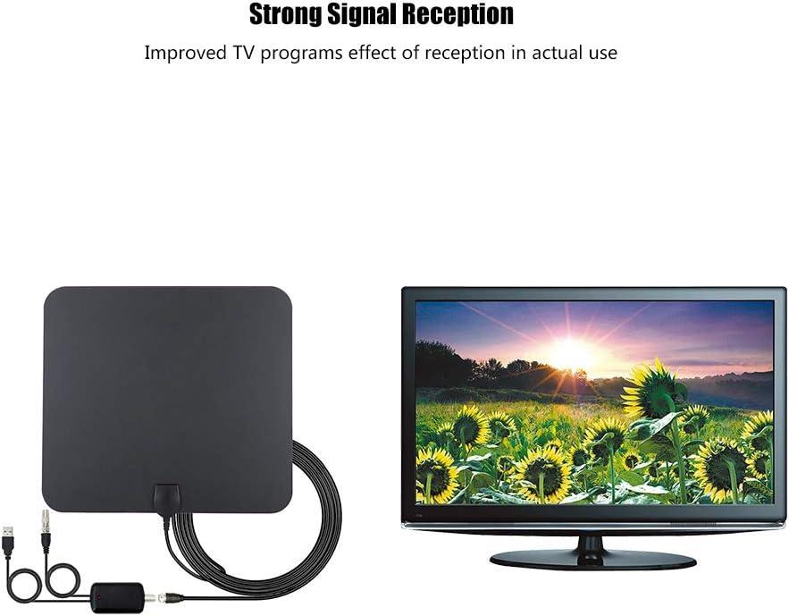 Antena de TV, 120 Millas Larga Distancia en el Interior Televisor HDTV Digital de Alta definición Antena de Antena de Alta Ganancia para sintonizador de TV USB, televisión DVB-T, Radio Dab: Amazon.es: