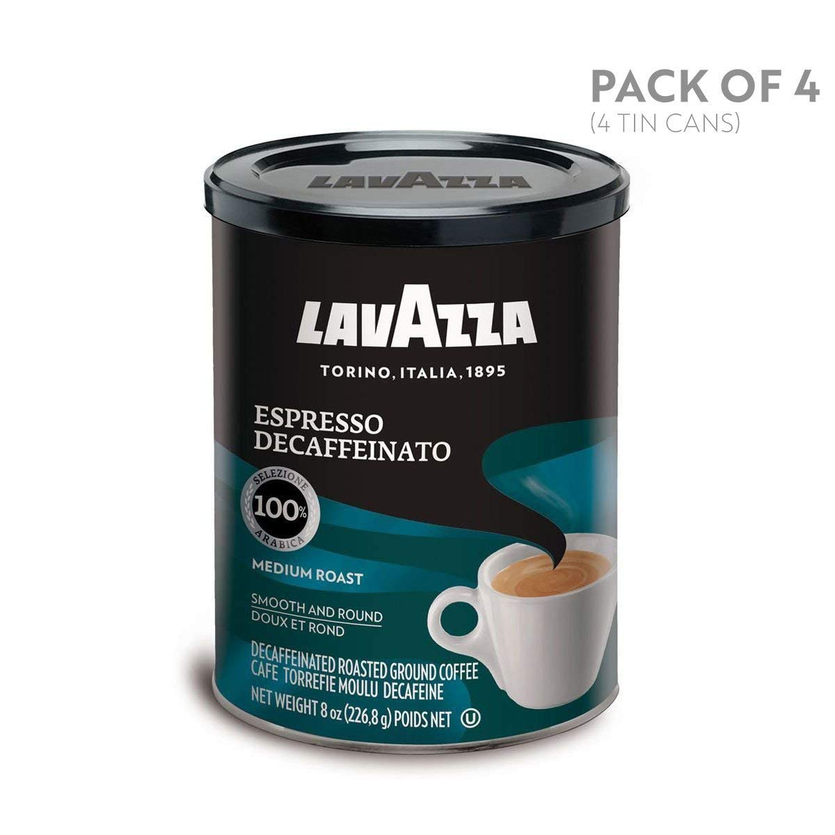 Café molido descafeinado expreso Lavazza, latas de ...
