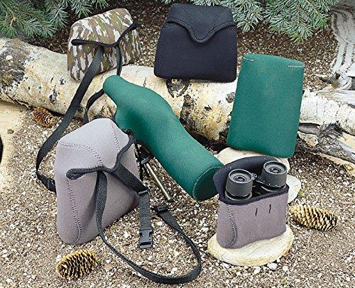 OP/TECH USA Bino Porro Soft Pouch - Padded Binocular Case, Small (Forest)