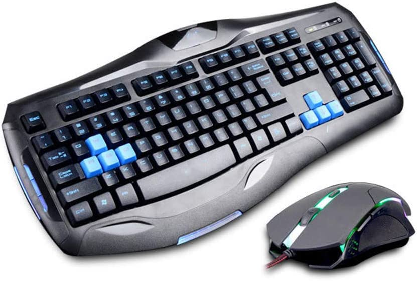Waterproof and Non-Slip 104 Keys // 6d 2400dpi for Pc Dota LOL Etc Wired Mechanical Gaming Gear Set Colorful Led Backlit Chen Keyboard Mouse Set