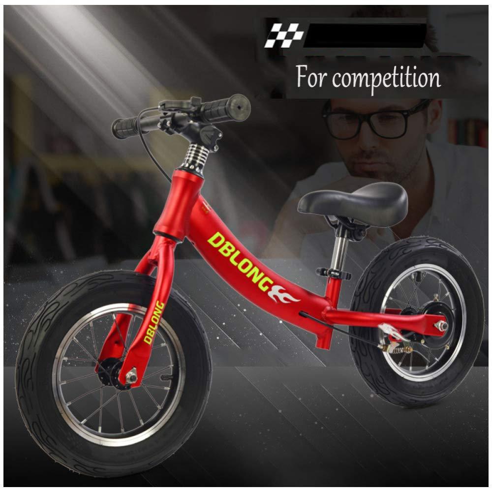 bienvenido a elegir rojo CHRISTMAD Balance Bike Niños Y Niños Pequeños, 12 12 12 No-Pedal Run Bicycle Balance Entrenamiento con Freno De Mano   18 Meses A 6 Años De Edad   80-120cm,rojo  caliente