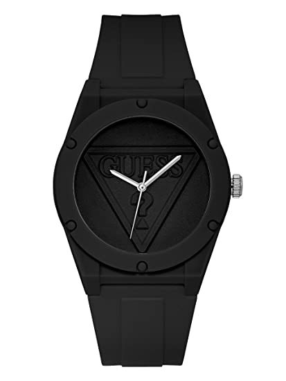 buy best for whole family speical offer Amazon.com: Guess Retro Pop Black Dial Silicone Strap Ladies ...