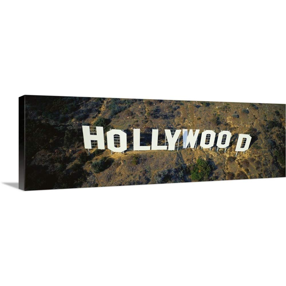 GREAT BIGキャンバスギャラリー‐ California , Los Angeles , aerial view of Hollywood Sign at Hollywood Hills 90