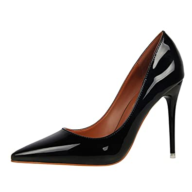 Gome-z Size34-39 Women Pumps High Heels Patent Leather Royal Blue Green Red