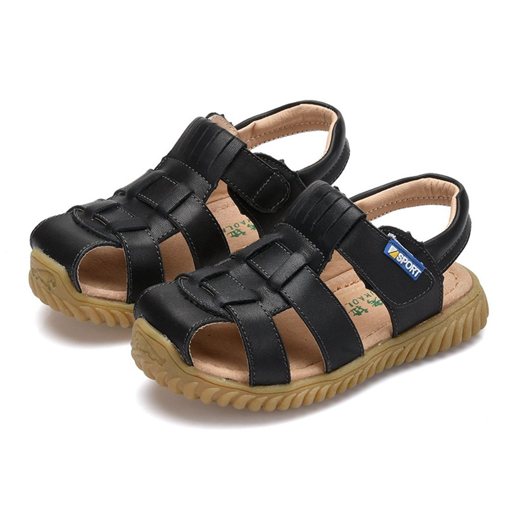 CYBLING Boys Girls Summer Outdoor Athletic Leather Closed-Toe Sport Sandals (Toddler/Little Kid/Big Kid)