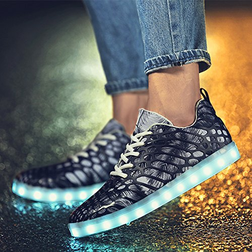 LED Casual Grey Luminous Matari 7 Night Mens Color Light Sneakers Rechargeable Shoes PqZznSgwZ