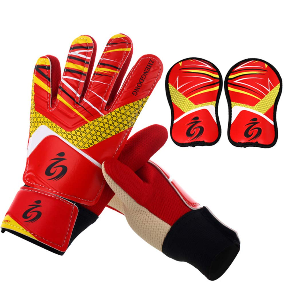 Goalkeeper Goalie Soccer Gloves - Kids Football Goal Keeper Gloves with Embossed Anti-Slip Latex Palm and Soft PU Hand Back Jalunth