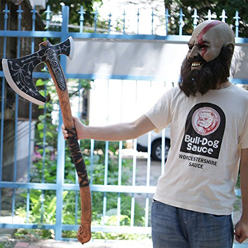 Luxury & Trendy 2018 God of War Kratos Leviathan Axe Cosplay Kratos Weapon Axe Halloween Props ()