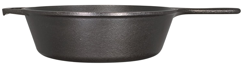 Lodge 26,04 cm/26,04 cm/2,83 litros pre-tratado redondo de hierro fundido de profundidad Sartén/sartén: Amazon.es: Hogar