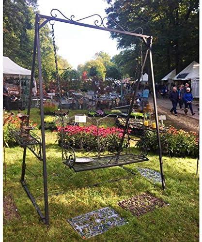 LHéritier Du Temps Balancín de Charme Columpio para Adultos y niños mobiliario de jardín en Hierro 136 x 227 x 260 cm: Amazon.es: Jardín