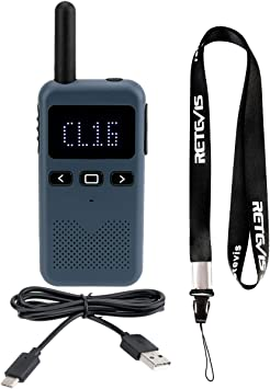 Retevis RB619 Walkie Talkies Recargable, PMR446 2 Way Radio sin Licencia, Walkie Talkies Larga Distancia, Walkie-Talkie para Hogar, Parque, Actividade ...