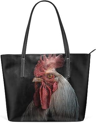 Womens Leather Top Handle Shoulder Handbag Hens Large Work Tote Bag