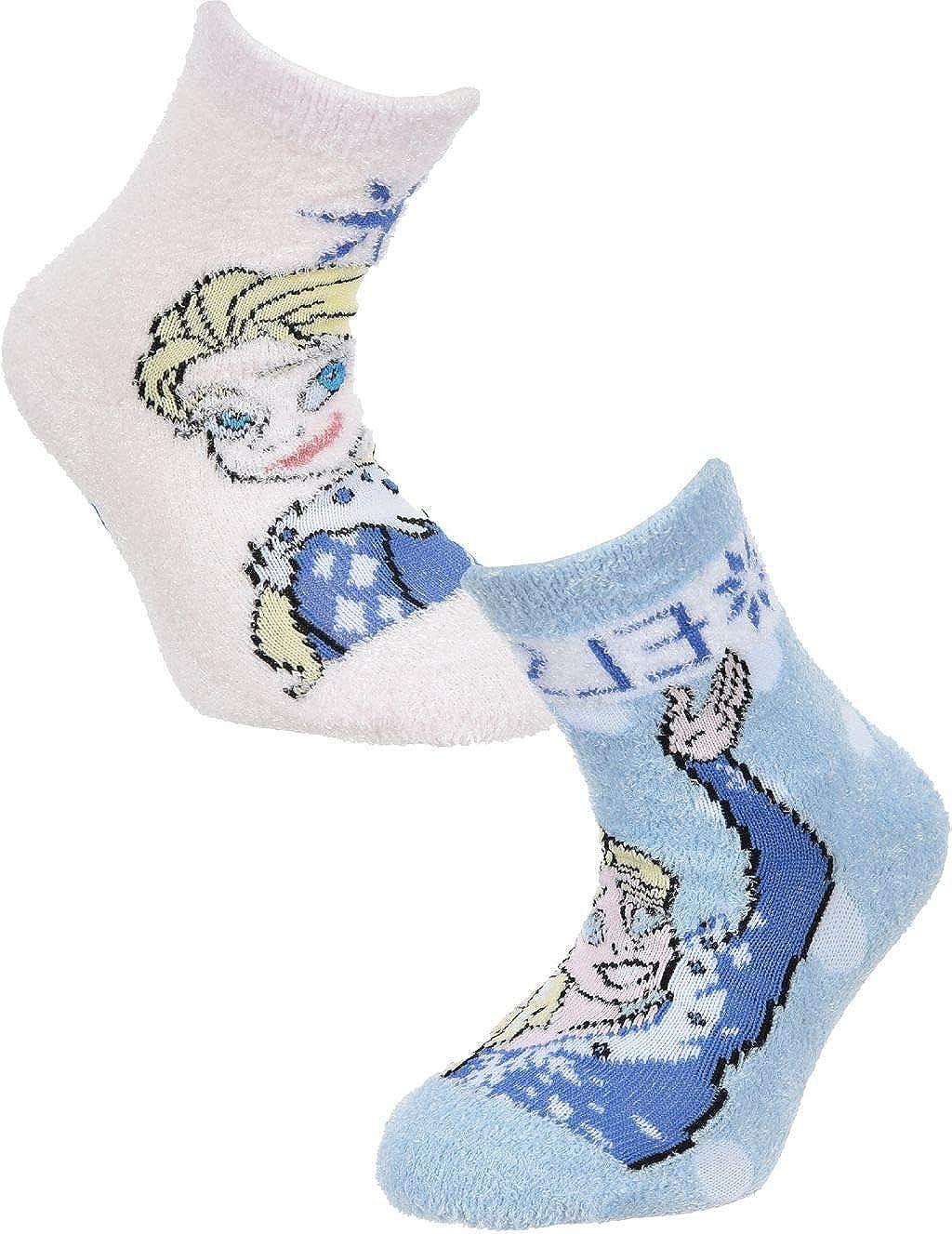 2 Pairs Girls ABS Socks Frozen Childrens Winter Stopper Socks
