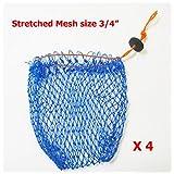 """KUFA Sports Crab Bait Bag 4pcs combo (380D/15,stretched mesh size 1""""; BAG-1x4)"""