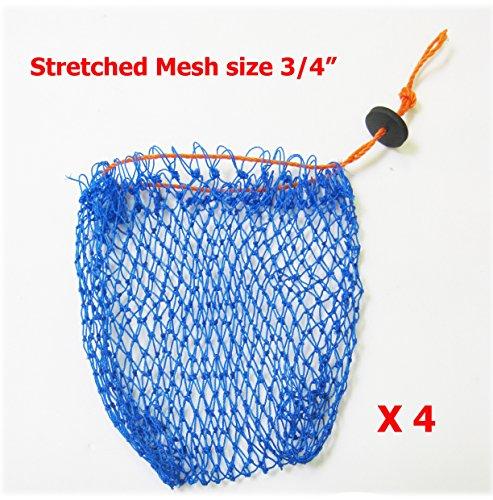 KUFA Sports Crab Bait Bag 4pcs Combo (380D/15,Stretched mesh Size 3/4