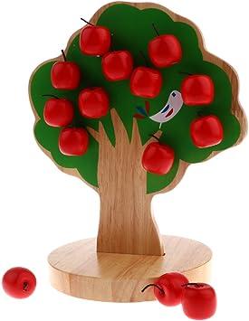 Juguetes Montessori de Madera de Árbol de Manzana Juguete Educativo Regalo para Niños: Amazon.es: Juguetes y juegos