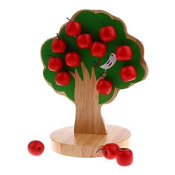 Manzana Montessori Árbol Juguetes Madera Magideal De Juguete 0Ow8PkXn