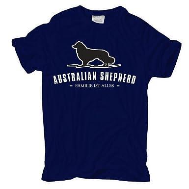 Männer und Herren T-Shirt Australian Shepherd - Familie ist Alles