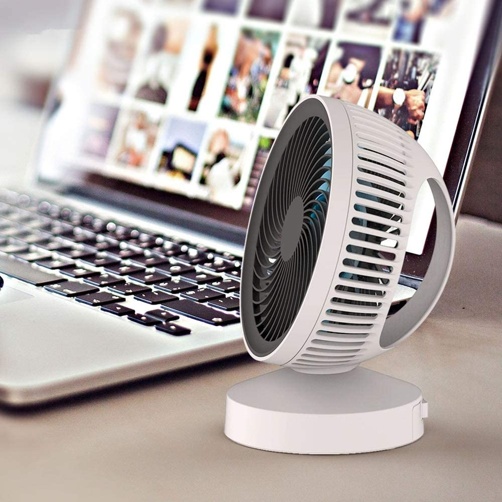 USB Table Desk Personal Fan Small Noiseless Personal Mini Desk Cooler Fan Travel Great for Desktop Tabletop Office Home and Travel for Home Office Table Color : Black, Size : Free Size