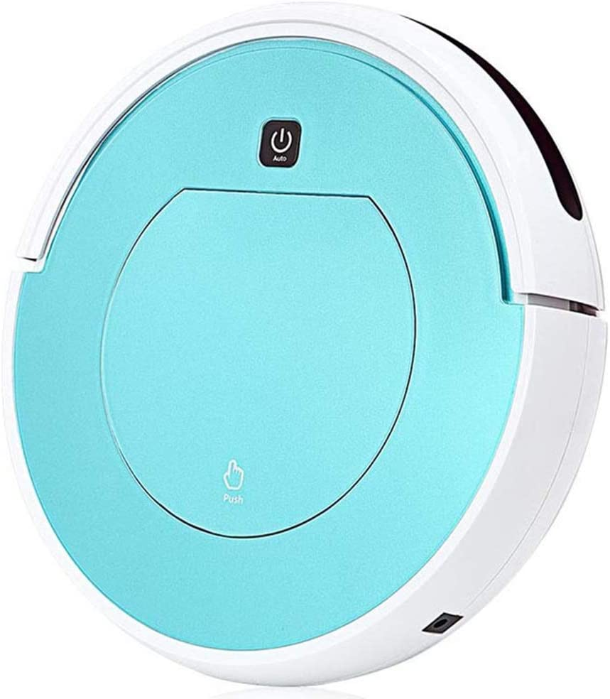 LYXLQ Smart Vacuum Cleaner, Wireless Cleaning Robotic Vacuum Cleaner, Low Noise Intelligent Cleaning Wireless Remote Control, Simple Operation for Both Men and Women,Blue