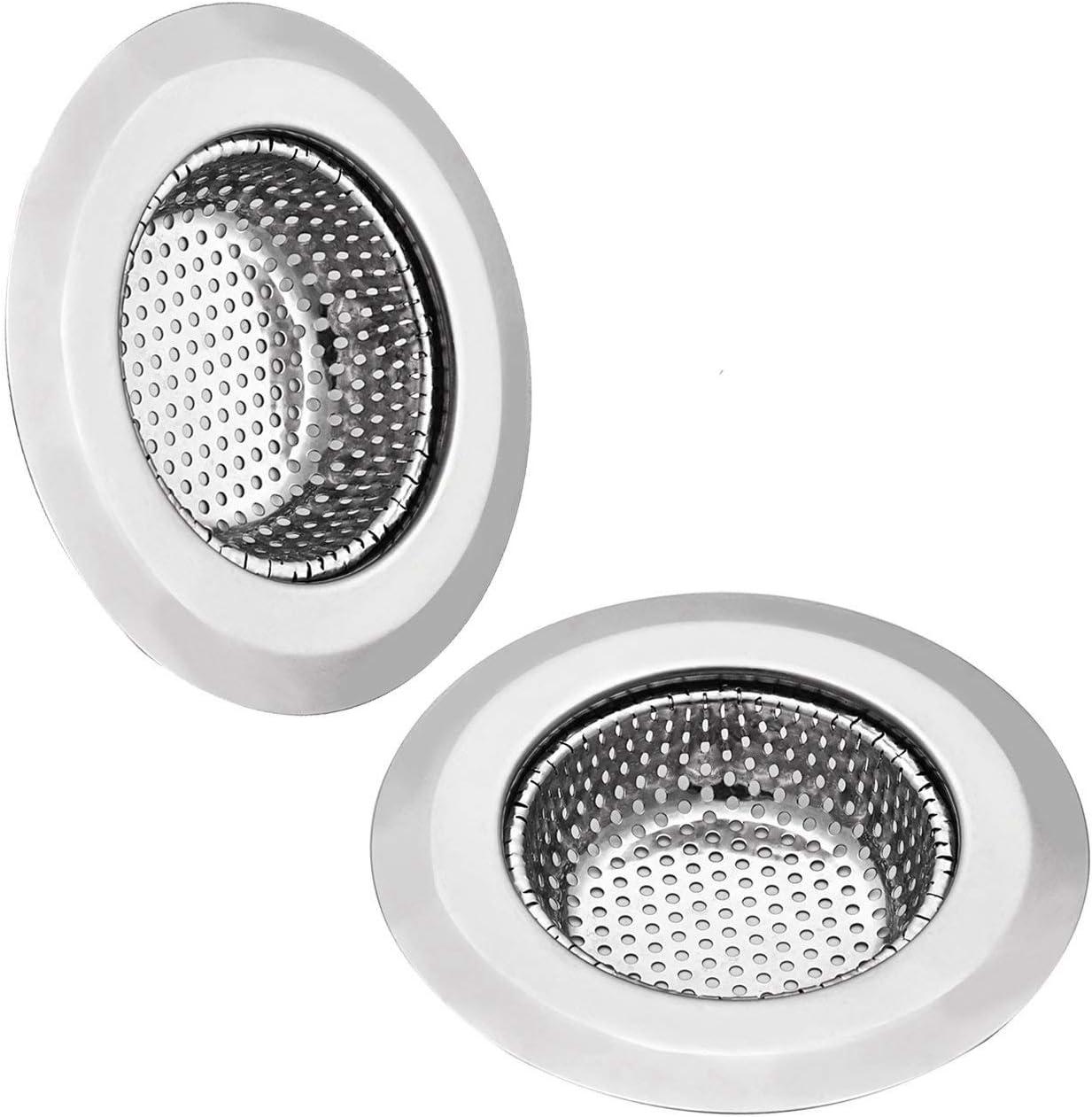 GreeSuit 2Pcs Fregadero Filtro de drenaje Filtro de acero inoxidable Filtro de metal Filtro Filtro de cocina para baño de cocina 11.5cm /4.5 pulgadas de diámetro