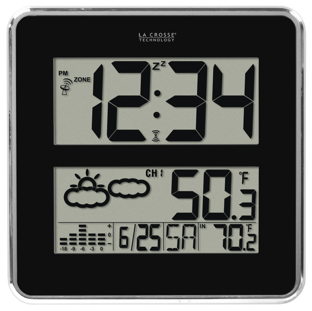 Amazon la crosse technology 512b 811 large atomic digital amazon la crosse technology 512b 811 large atomic digital wall clock with forecast weather home kitchen amipublicfo Image collections