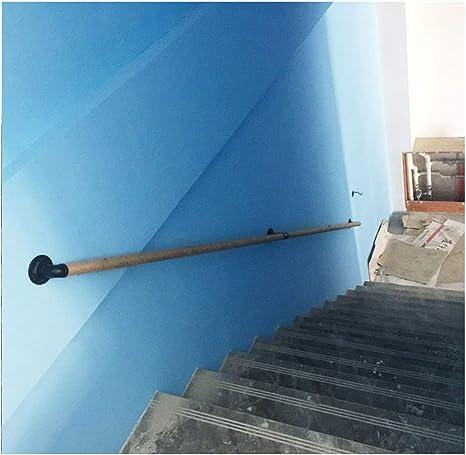 DDIAN Barandilla para Interior Y Exterior Barra De Soporte del Pasillo Apoyabrazos De Tubería Pasamanos De Escalera De Hierro Soporte De Pared: Amazon.es: Deportes y aire libre