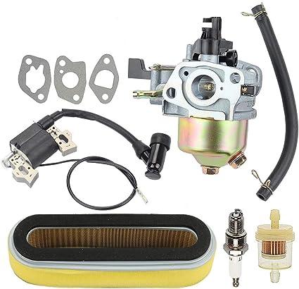 Hayskill 16100-ZE6-W01 Carburetor w Air Filter Tune Up Kit for Honda HR194 HR195 HR214 HRA214 HR215 HR216 HRA216 HRC216 Lawn Mower GXV120 GXV140 GXV160 Motor Engine Carb