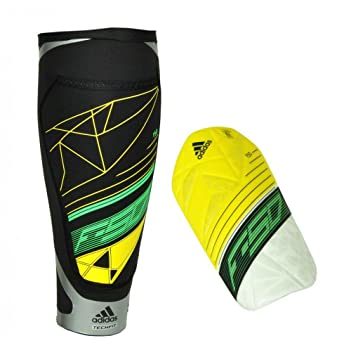 new concept f661e 9efae adidas F50 Techfit - Espinilleras amarillo Vivid Yellow  S13 white black green Zest S13 Talla large  Amazon.es  Deportes y aire libre