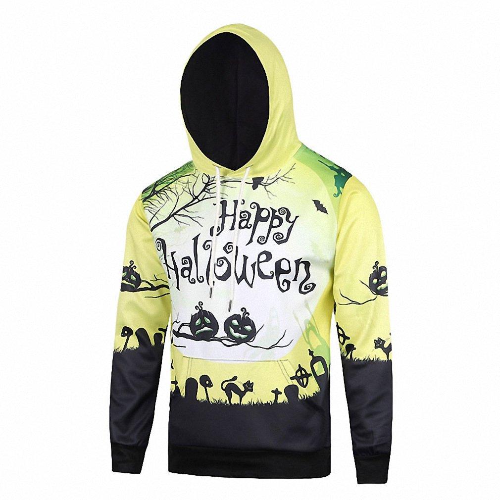 Amazon.com: Crochi Hiphop Harajuku Crochi Men Hoodies With Happy Halloween Printed 3D Crewneck University Sweatshirt With Hoody #L6103: Clothing