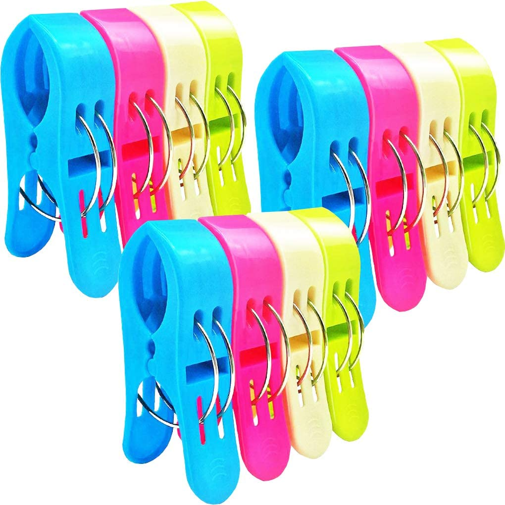 4Pcs Sealing Clips Plastic Creative Beach Towels Clothes Food Household Clips