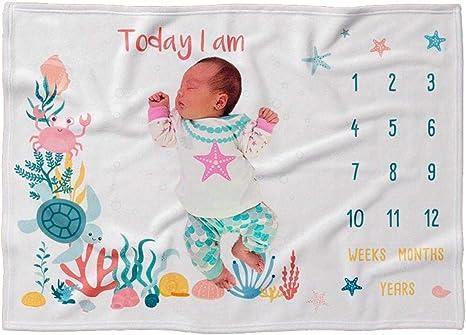 Narwhal Milestone Blanket Monthly Growth Tracker Nautical Milestone Blanket Gender Neutral Milestone Blanket