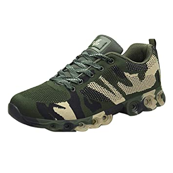 Fiaya Casual Men S Fashion Camouflage Work Safety Hiking Shoes