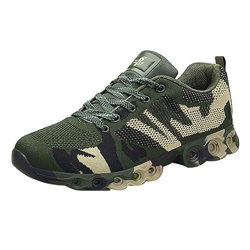 fe7a5e911e7a Rovinci_Scarpe Scarpe Uomo Corsa da Uomo Scarpe da Ginnastica Mimetiche  Scarpe da Addestramento Militare da Passeggio