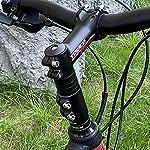 IWILCS-Adattatore-Altezza-Riser-Manubrio-Riser-Manubrio-Bicicletta-prolunga-Attacco-Manubrio-Bici-Adattatore-Altezza-Bici-per-Attacco-Manubrio-in-Lega-di-Alluminio-Mountain-Bike-120mm-Nero