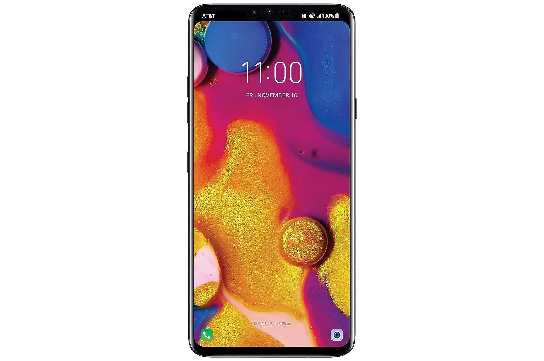 LG V40 ThinQ 64GB Aurora Black LMV405UA 6.4 QHD+ OLED Display - AT&T & GSM Unlocked (Renewed)
