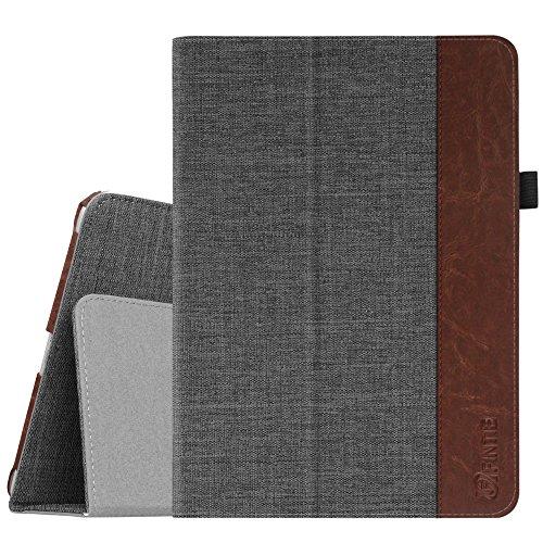 Faux Case Protector Leather (Fintie iPad 9.7 2018/2017, iPad Air 2, iPad Air Case - [Corner Protection] Premium Denim Folio Stand Cover, Auto Wake/Sleep for Apple iPad 6th / 5th Gen, iPad Air 1/2, Denim Charcoal)