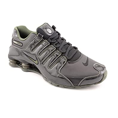 finest selection d8c0d 2bfe2 NIKE SHOX NZ MENS BLACK/CARGO/GRANITE 378341-045 Running