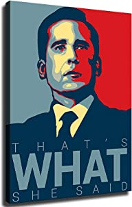 GREAT Modern Wall Poster Art Print Oil Painting on Canvas Home Decor Wall Decoration Canvas Art That's What She Said - Michael Scott Quote (Framed-Ready to Hang,16×20inch)