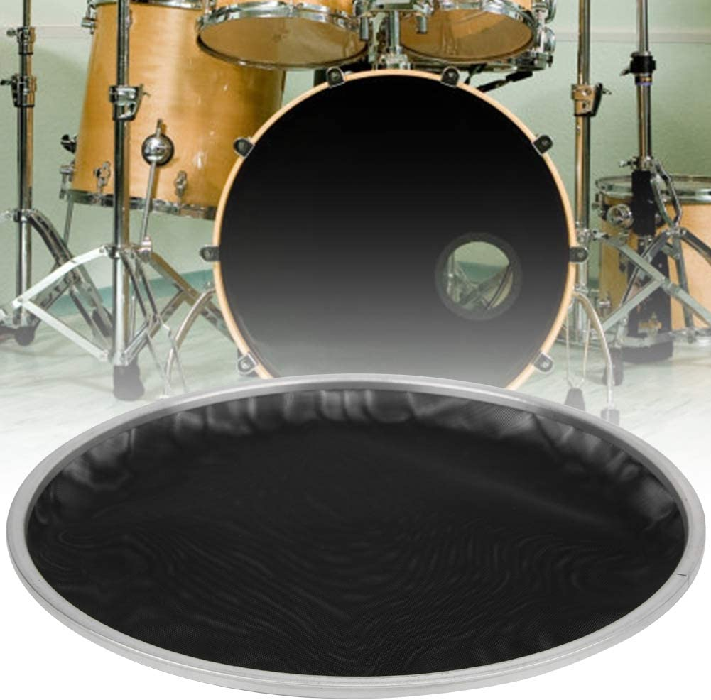 RiToEasysports Mesh Drum Head 2Pcs 2ply Mesh Drum Head Silent Pad Skin Black 10inch Percussion Instrument Parts Black