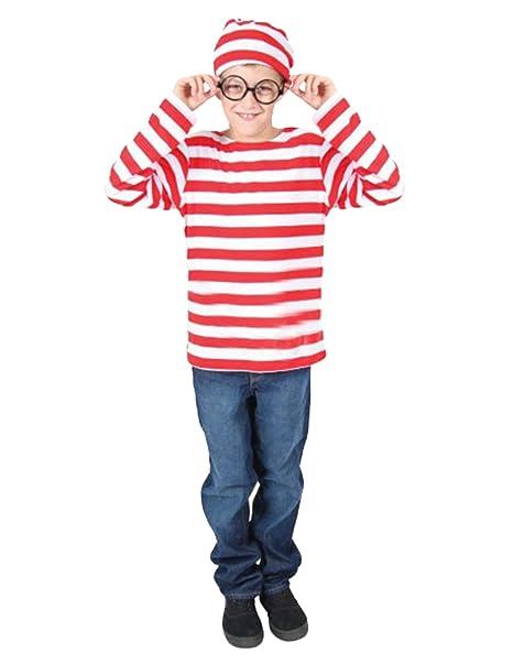Amazon.com: Quesera disfraz de Waldo para hombre manga larga ...