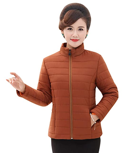 Happy cherry - Abrigo - chaqueta guateada - para mujer Beige caramelo XXXXX-Large: Amazon.es: Ropa y accesorios