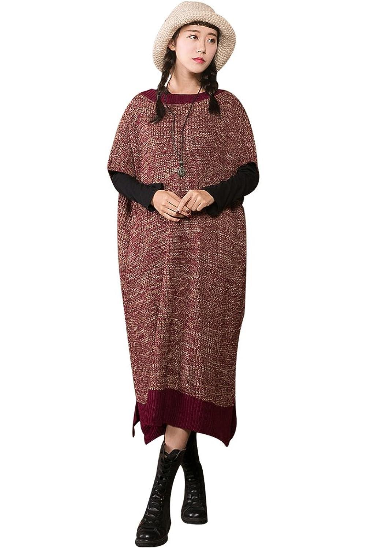 MatchLife Damen Rundhals Jerseykleider Kurzarm Kleider