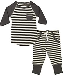 780b5432b0c L ovedbaby Organic Cotton Unisex Baby Long-Sleeve Shirt Pant Set